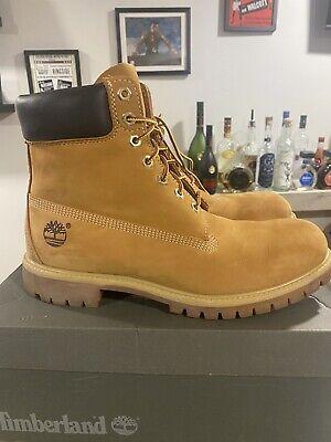 """Timberland Boots 6"""" Premium Wheat Size 11"""