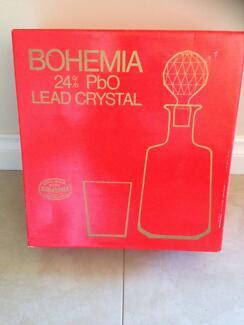 Bohemia 24% PbO Lead Crystal 7 Piece Set