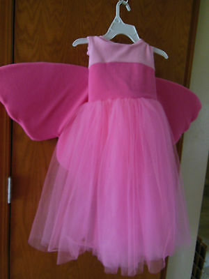 The Children's Place costume Pink w Butterfly wings tulle skirt QUALITY sz 5-6 (Costumes Places)