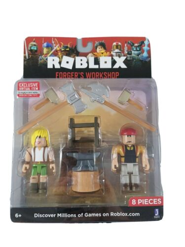 ROBLOX Celebrity Figure Accessories FORGER S WORKSHOP Core Pack W/ Virtual Code  - $16.99