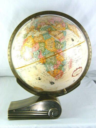 """Levenger 12"""" Replogle Globe World Classic with Brass Base VTG"""
