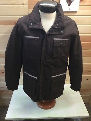 HKM Sports Equipment Riding Equestrian Jacket Womens L Brown Multiple Pockets