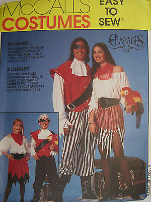 McCall 8437 Easy-to-Sew Misses & Men's Pirate Costume Pattern Sz Small or Medium - Pirate Costume Easy