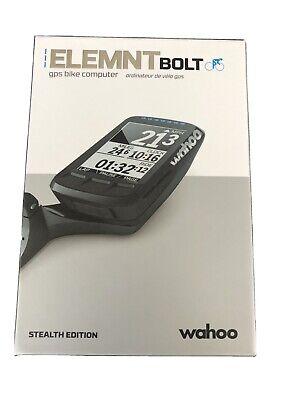 Wahoo elemnt bolt gps bike computer new Stealth Edition!