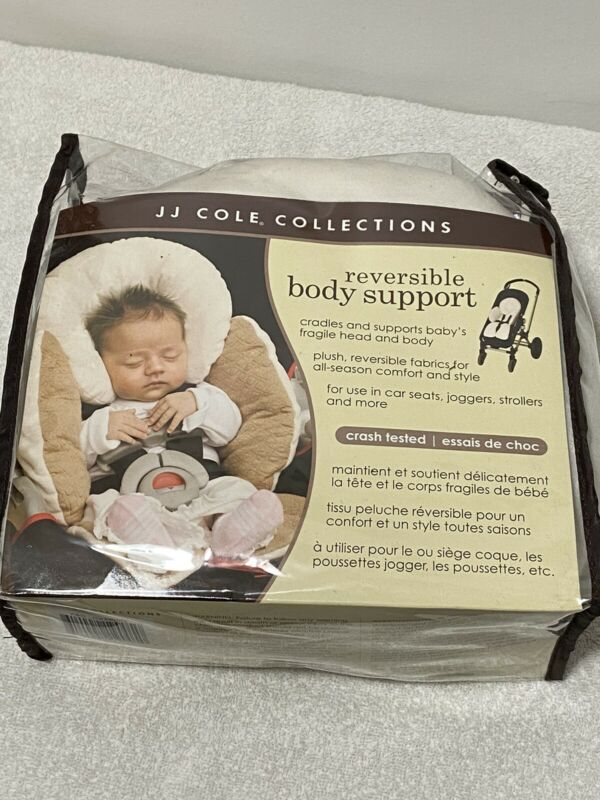 JJ Cole Total Infant Reversible Head & Body Support Car Seat Stroller Cream