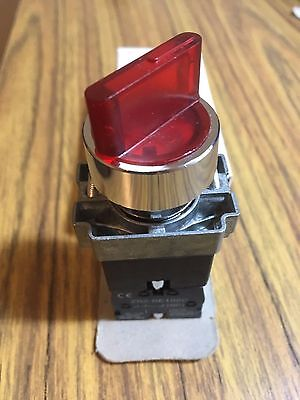 Rotary Illuminated 2-position On Off Select Selector Switch N.c.metal 120v 2pole