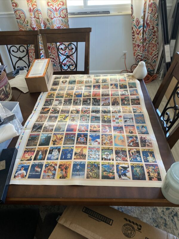 Boys Life Magazine Poster Featuring Famous Covers BSA Boy Scouts BOX-653K