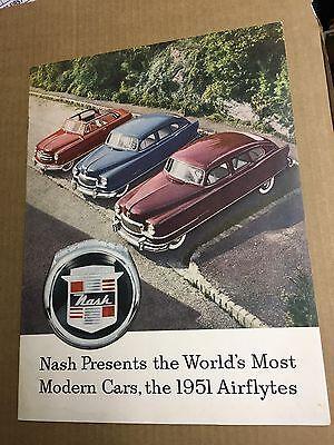 NASH PRESENTS 1951 AIRFLYTES SALES BROCHURE