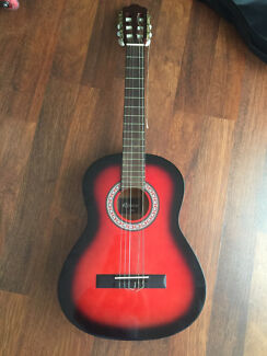 Red/black Riveria Guitar Yagoona Bankstown Area Preview