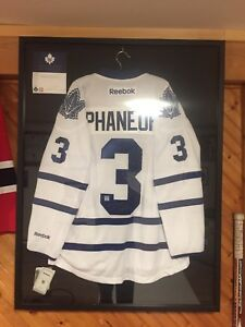 Autographed Dion Phaneuf Leafs Jersey