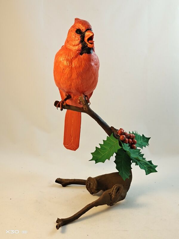 Northern Cardinal Bird life size Wood Carving /Sculpture