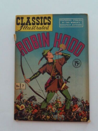 Classics Illustrated #7 - ROBIN HOOD - HRN 78 - VG