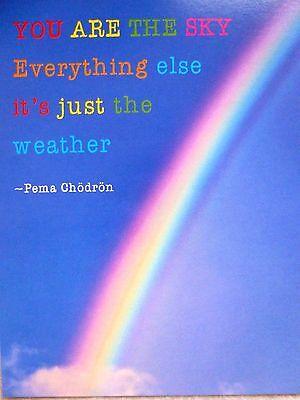 Karte Liebe Du bist alles Regenbogen spirituell VERSANDKOSTENFREI!