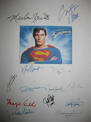 Superman Signed Film Script Christopher Reeve Marlon Brando Ned Beatty reprint