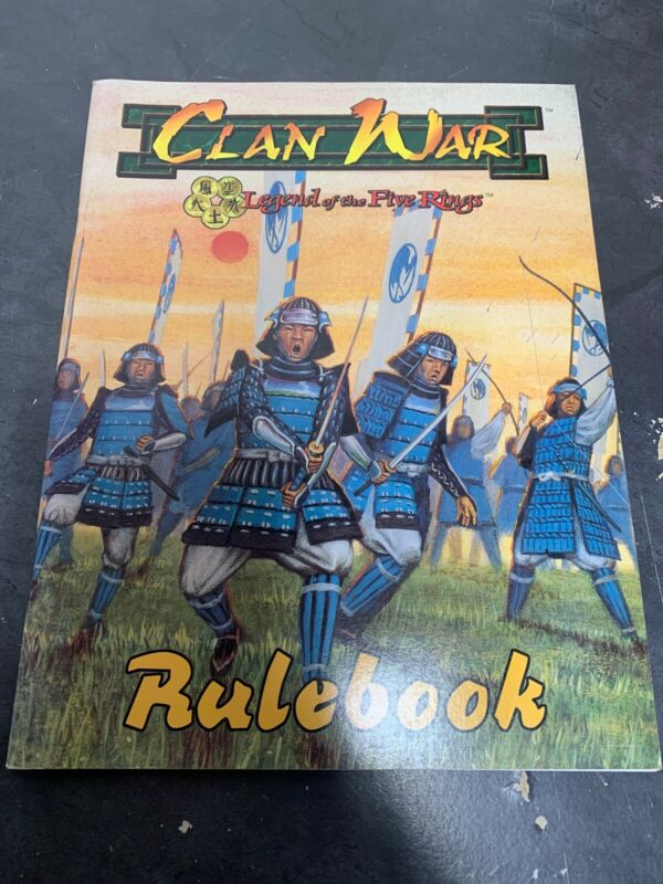 Vintage Clan War Rulebook Legend Of Five Rings Miniatures War Game