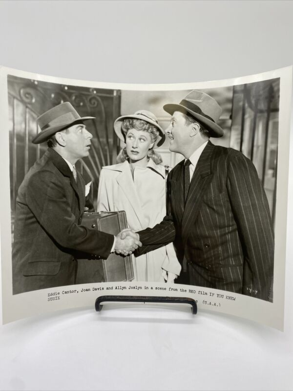 1948 If You Knew Susie Movie Promo Photograph Eddie Cantor, Joan Davis