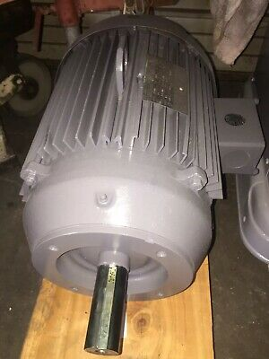 Used Lincoln 15hp 1750 Rpm 3ph 254tc Electric Motor 1-58 Shaft 230460vac