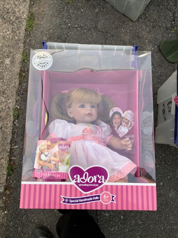 """19"""" Adora Baby Doll """"Happy Birthday"""" Toddler Time Strawberry Blonde Pigtails MWB"""