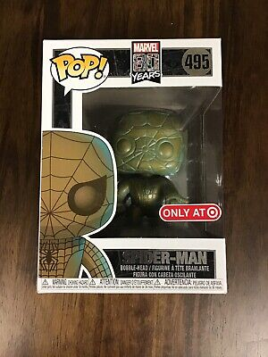 Funko Pop! Marvel 80 Years Spider-Man #495 Patina Target exclusive