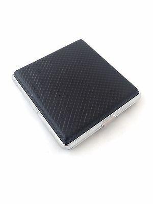 Schwarzes Zigarettenetui in Lederoptik für 20 Filterzigaretten Zigarettenbox