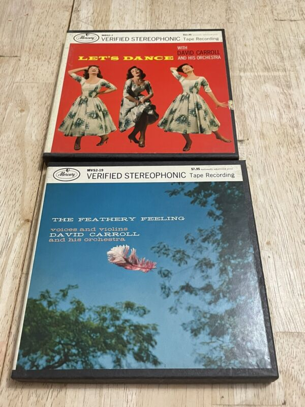 DAVID CARROLL LOT OF 2 REEL TO REEL TAPES (FEATHERY FEELING, Let's Dance)