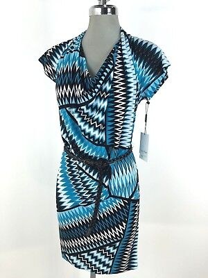 Calvin Klein NWT Beautiful Chic Abstract Dress Cool Printed design 2 4 6 8 10 (Abstract Printed Dress)