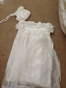 Beautiful christening gown and hat