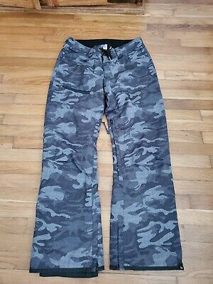 Quicksilver Men's Gray Forest Oak 15k Snowboard Ski Pants Size L