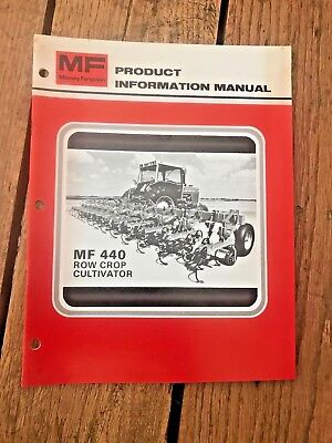Mf 440 Row Crop Cultivator Product Information Manual Vintage 80 Massey Ferguson