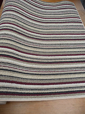 Red Stripe Teppich (62 x 36 inch (157 x 91cm) BROWN BEIGE RED STRIPE HEAVY DOMESTIC RUG 1783 CHEAP!)