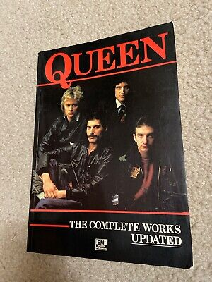 QUEEN THE COMPLETE WORKS Updated BOOK paperback sheet music QUEEN Complete Works Music Book