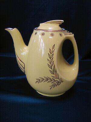 HALL CHINA 6 Cup Yellow Art Deco #0779 Sundial Teapot / Coffee Pot Mint USA
