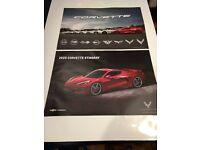 2020 C8 Chevrolet Corvette Stingray Small Poster Kerbeck Ad  Photo 11 X 8 1//2