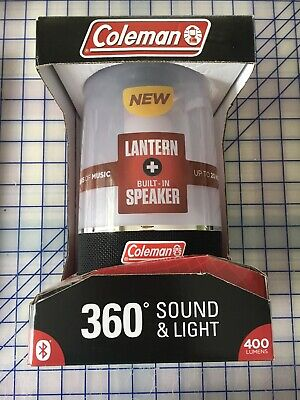 - Coleman Lantern 360 Sound and Light LED Lantern Bluetooth Wireless Speaker 400LM