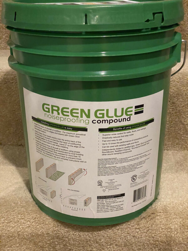 Green Glue Noiseproofing Compound Five Gallon Bucket