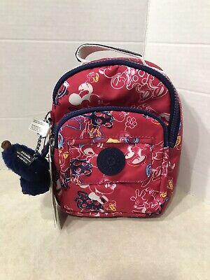 Kipling Disney Minnie Mouse Alber Convertible Backpack Doodle Pink/Silver