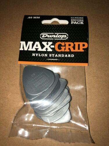 Pack of 13 Dunlop MAX-GRIP 449E.60 Tortex Standard .60mm Gray Guitar Pick (1758)