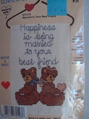 Country Wireworks Married to Your Best Friend Cross Stitch Kit Wedding