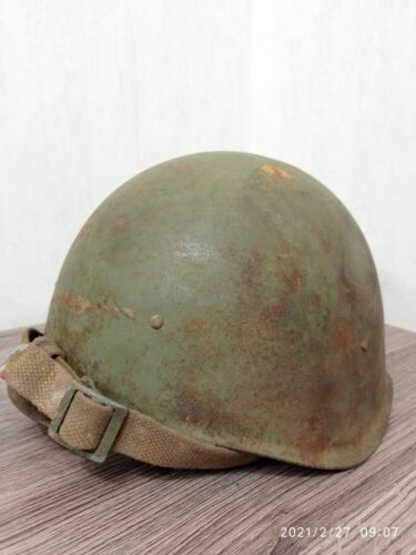 Helmet SSh 40 Steel WW2 Original Military Relic of Battlefield Soviet Army RKKA