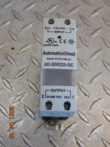AUTOMATION DIRECT AD-SSR225-DC SOLID STATE RELAY **FREE SHIPPING**