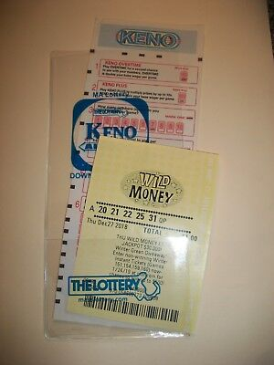 LOTTERY TICKET HOLDER SLEEVE PROTECTOR ENVELOPE KENO OR SPORTS BETTING NEW - Lottery Ticket Holder