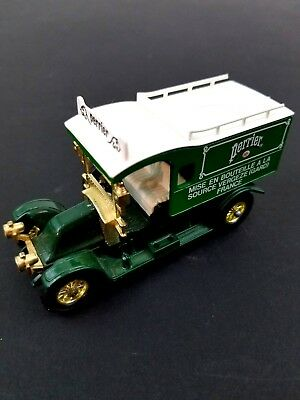 Vintage Matchbox Perrier Renault Delivery Truck 1983 Green White #Y25 YesterYear