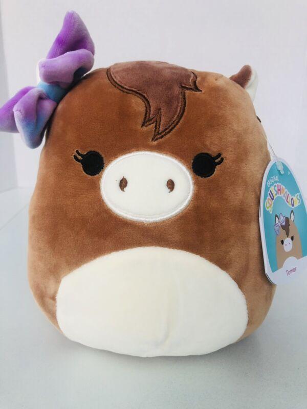 "Squishmallows Tomar Brown Horse Plush 8"" Stuffed Rare Kellytoys NWT"