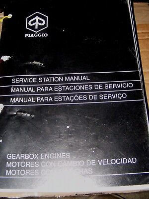 PIAGGIO GEARBOX ENGINES SERVICE STATION MANUAL