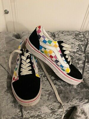 Kids Rainbow Vans UK 13.5