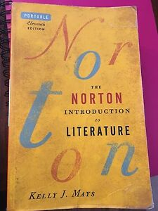 The Norton Introduction to Literature edition 11 $50 obo