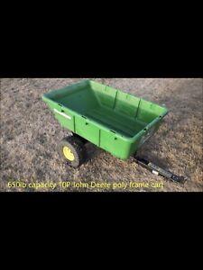 John Deere 650 lbs capacity dump cart