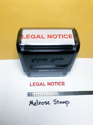 Legal Notice Rubber Stamp Red Ink Self Inking Ideal 4913