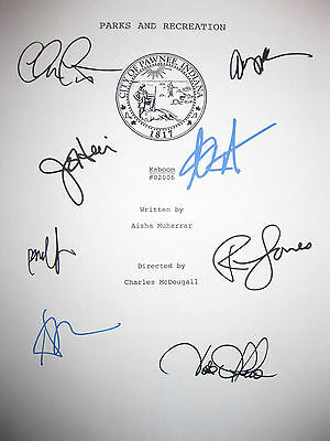Parks and Recreation Signed TV Script Amy Poehler Aziz Ansari Jones reprint MINT