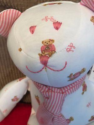 Ralph Lauren stuffed teddy bear polo bear new gift toy pink  white baby girl new